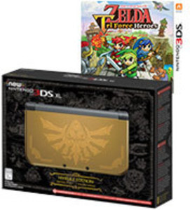 Nintendo New 3DS XL - Hyrule Gold Edition with The Legend of Zelda: Triforce Heroes by Nintendo
