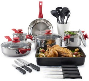 Philippe Richard 10-pc. Stainless Steel Cookware Set + TRIPLE BONUS