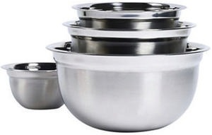 Philippe Richard® 4-pc. Stainless Steel Nesting Mixing Bowl Set