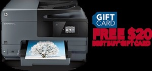 HP Officejet Pro 8610 e-All-in-One Wireless Printer+ Free $20 Gift Card