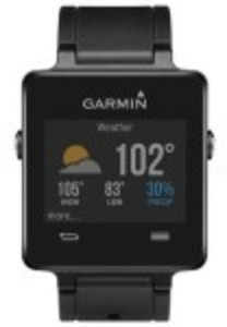 Garmin - vívoactive Smartwatch 28.6mm Plastic - Black Silicone