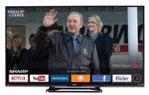"Sharp 55"" 1080p AQUOS LED Smart HDTV"