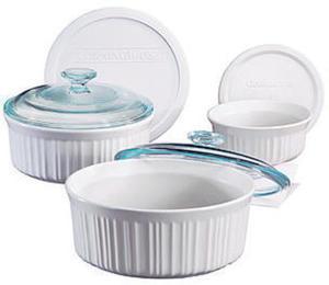 Corningware French White 6 Piece Set