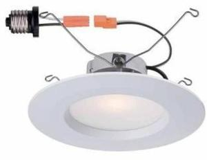 """Commercial Electric 5"""" and 6"""" 2-Pack LED Recessed Trim"""