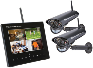 Bunker Hill Security 4 Channel Wireless Surveillance System with 2 Cameras