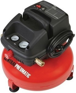 Central Pneumatic 3 gal. 1/3 HP 100 PSI Oilless Pancake Air Compressor