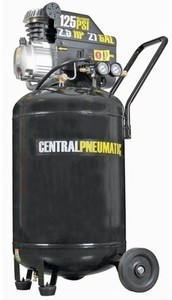 Central Pneumatic 21 gal. 2.5 HP 125 PSI Cast Iron Vertical Air Compressor