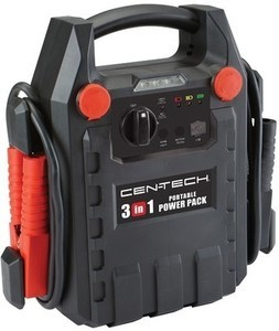 Cen-Tech 3-in-1 Portable Power Pack with Jump Starter