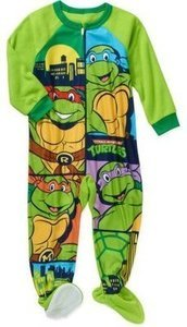 Teenage Mutant Ninja Turtles Toddler Boys' Micro Fleece Footed PJ