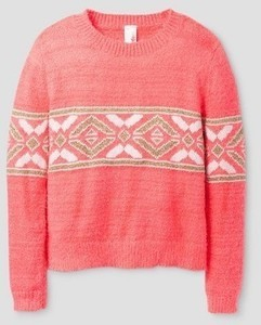 Girls' Pullover Sweater Cat & Jack - Neon Pink