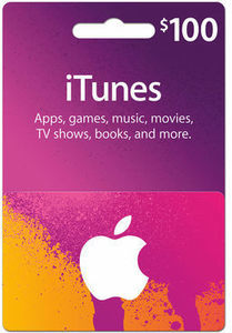 $100 iTunes Gift Card iTunes Plus Save $10 with Coupon