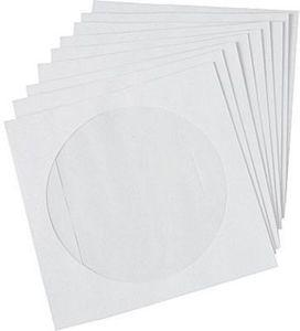 Staples Paper CD/DVD Sleeves, White, 50/pack