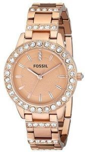 Fossil Women's 'Jesse' Rosegold Tone Stainless Steel Watch