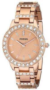 Fossil Women's 'Jesse' Rosegold Tone Stainless Steel Watch