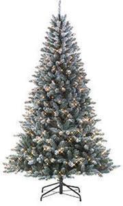 Jaclyn Smith 7' Pre-Lit Colorado Flocked Pine Tree