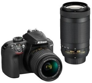 Nikon DSLR D3400 Camera 2-Lens Kit Bundle