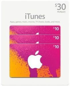 Select iTunes Gift Cards