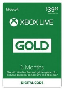 Xbox Live Gold 6-Month Subscription (Email Delivery) + 'Bonus Digital Game Code'