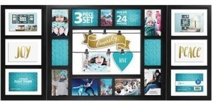 Mainstays Expression 24-Opening Collage Frame 3-Piece Set, Black