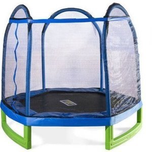 Bounce Pro 7' My First Trampoline Indoor/Outdoor w/ Enclosure