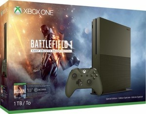 Xbox One S 1TB Battlefield 1 Special Edition Console Bundle - Military Green