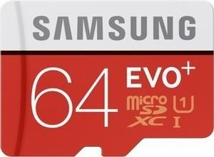 Samsung EVO+ 64GB microSDHC Memory Card - Red/White