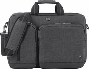 Solo Urban Convertible Laptop Briefcase Backpack - Gray