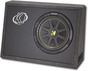 Kicker Comp Single-Voice-Coil 4-Ohm Subwoofer with Enclosure