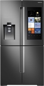 Samsung Family Hub 22.08 Cu. Ft. Counter-Depth 4-Door Flex Smart French Door Refrigerator - Black Stainless Steel
