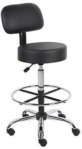 Boss Stool With Back And Foot Ring