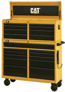 "Cat 52"" Tool Chest and Cabinet Combo"