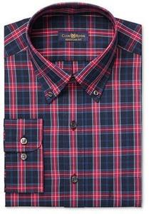 Men's Estate Classic-Fit Wrinkle Resistant Navy MacBeth Dress Shirt