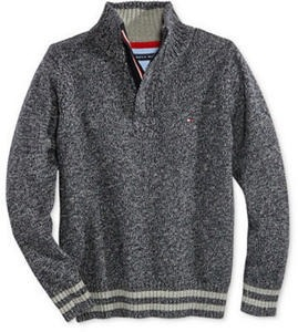 Tommy Hilfiger Flannel Shirts & Half-Zip Sweaters