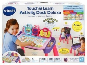VTech Touch and Learn Activity Desk Deluxe Interaction Learning System - Pink