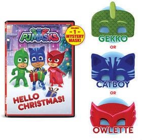PJ Masks: Hello Christmas! DVD with Mystery Mask