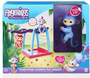 WowWee Fingerlings Monkey Bar and Swing Playground Playset