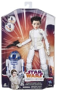 Star Wars Forces of Destiny Action Figures - Princess Leia Organa and R2-D2
