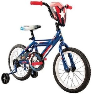 "Boys 16"" Huffy Marvel Captain America Titan Hero Bike"