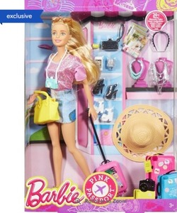 Barbie Pink Passport Vacation Doll Giftset