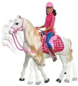 Barbie Dream Horse and African American Doll