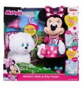 Minnie's Walk and Play Puppy Feature Plush