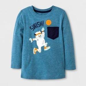 Cat & Jack Toddler Boy Long Sleeve Swish Graphic T-Shirt