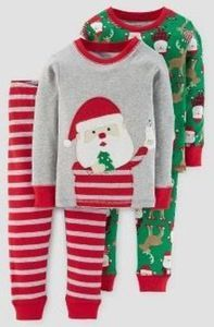 Toddler Boys' 4-Pc. Long Sleeve Milk and Cookies Pajama Set
