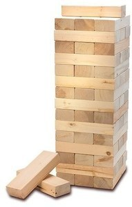 American Vintage Party Sized Block Stacking Game