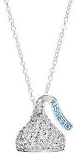 Sterling Silver Crystal Hershey's Kiss Pendant