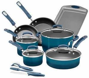 Rachael Ray 14-pc Nonstick Cookware Set After Rebate + $15 Kohl's Cash