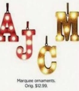 Marquee Ornaments
