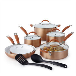 Cooks 12-Piece Ceramic Nonstick Set After Rebate