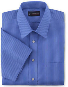Stafford Travel Easy-Care Broadcloth Dress Shirt