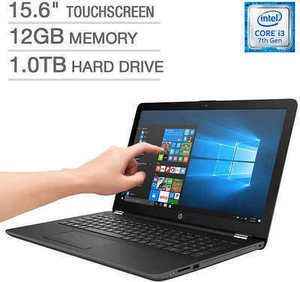 "HP 15.6"" Touchscreen Laptop w/ Core i3 CPU, 12GB Mem + 1TB HDD"